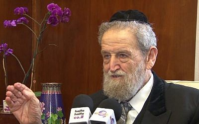 Rabbi She'ar Yashuv Cohen (screen capture: YouTube)