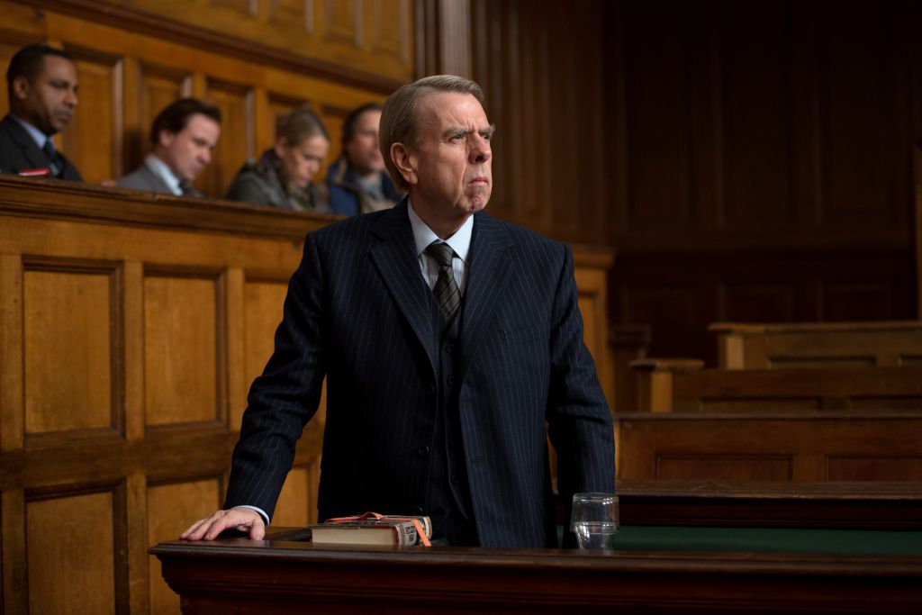 Timothy Spall as Holocaust denier David Irving, the plaintiff in the libel lawsuit. (Laurie Sparham/Bleecker Street)