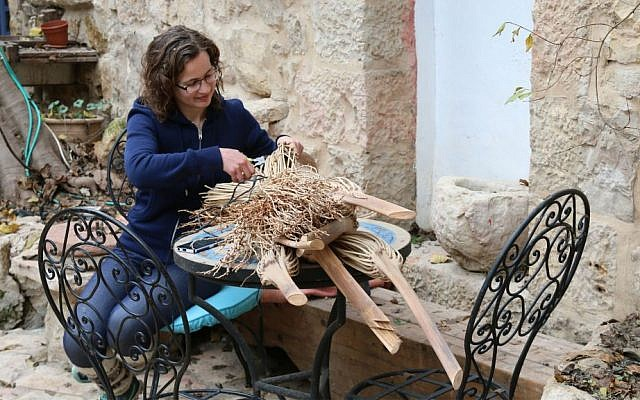 BeHefetz Kapea basket weaving takes its inspiration from traditional Biblical craftwork. (Shmuel Bar-Am)