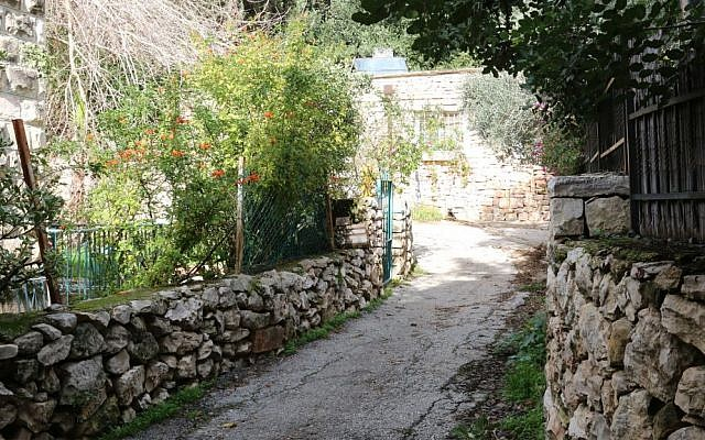 HaMayan street in Ein Kerem. The picturesque neighborhood, home to artist workshops and religious sites, is now a destination for international tourists. (Shmuel Bar-Am)