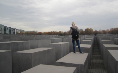 In Berlin, Germany, the memorial for the murdered Jews of Europe, November 2012 (Matt Lebovic/The Times of Israel)