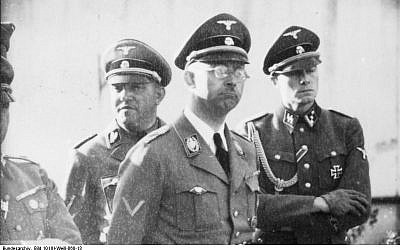 SS chief Heinrich Himmler in 1940, before construction of the death camps he oversaw (Public domain)