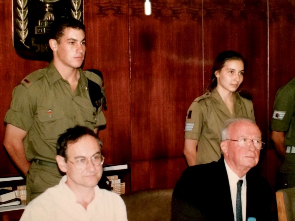Paul Charney being honored at a ceremony with then-Prime Minister Yitzhak Rabin in September, 1994. (Courtesy)
