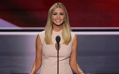 Ivanka Trump speaking at the Republican National Convention in Cleveland,  July 21, 2016. (Alex Wong/Getty Images)