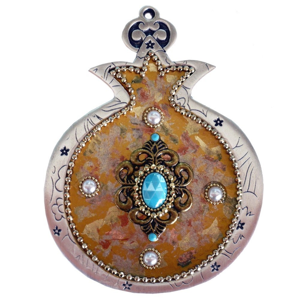 Iris Design Hand Painted Pomegranate with Czech Stones RRP 99 Our Price 64.99
