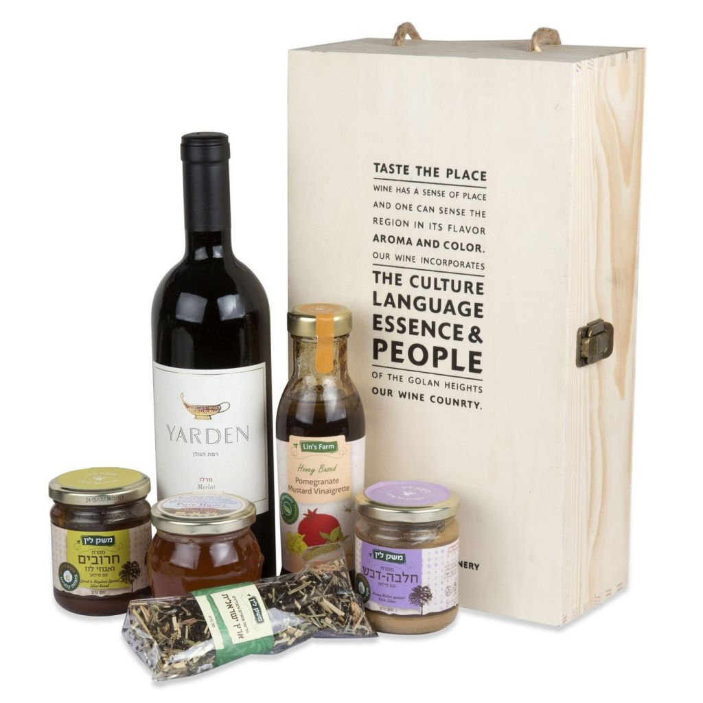 Lin's Farm Vinaigrette and Sweet Treats Gift Box with Wine RRP $149 Our Price $99
