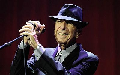 Leonard Cohen in concert at London's O2 Arena, September 15, 2013. (Brian Rasic/Getty Images/JTA)