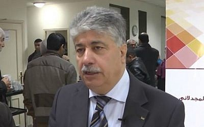 Senior PLO official Ahmed Majdalani. (YouTube screen capture)
