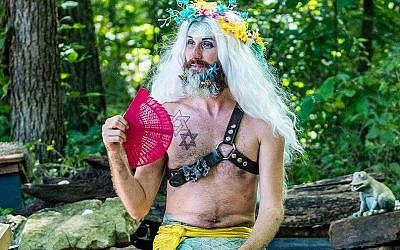 Tikva Naim Briggs, 34, is better known as Maksim Merman, the Yellowtailed SeaWitch. He is the world's only known professional Jewish merman. (Courtesy of Briggs/JTA)
