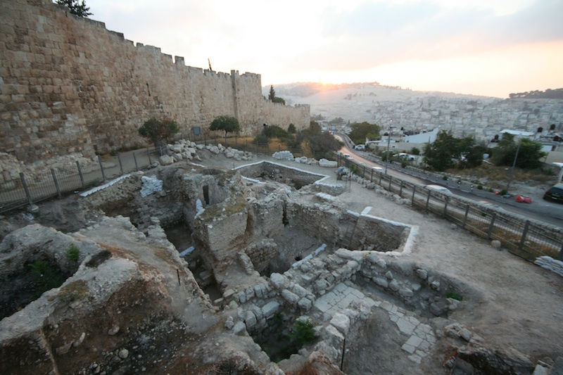 The archaeological site at Jerusalem's Mount Zion (Shimon Gibson)