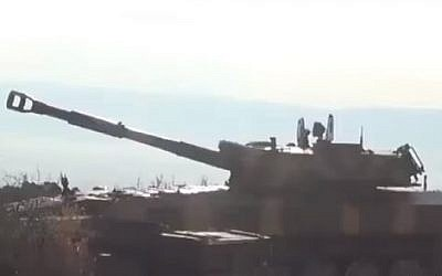 A Syrian Army artillery battery, file (YouTube screenshot)