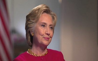 Democratic presidential nominee Hillary Clinton speaks to Channel 2 News in an interview broadcast on September 8, 2016 (Channel 2 screenshot)