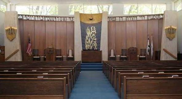 Commack Jewish Center's sanctuary, around 2000 (Ronda Brooks)