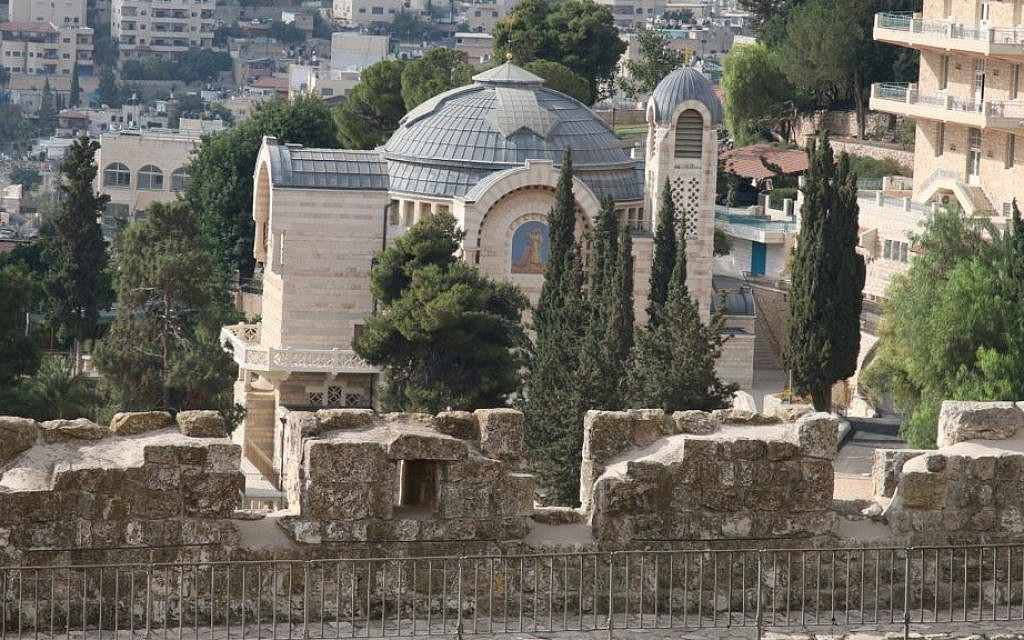 Beneath the Church of St. Peter, on Mount Zion's eastern slope, are chambers carved out of rock from the Second Temple period. (Shmuel Bar-Am)
