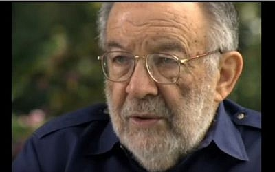 American-Jewish peace activist Stanley K. Sheinbaum. (screen capture: YouTube)
