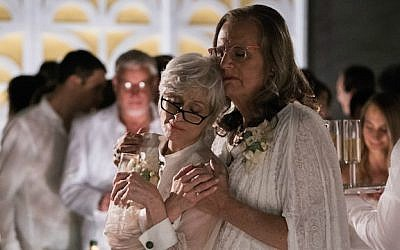 Jeffrey Tambor (right), and his ex-wife, played by Judith Light, in season one of 'Transparent' (Courtesy 'Transparent)