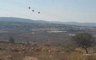 The view from the West Bank outpost of Amona. (Marissa Newman/Times of Israel)
