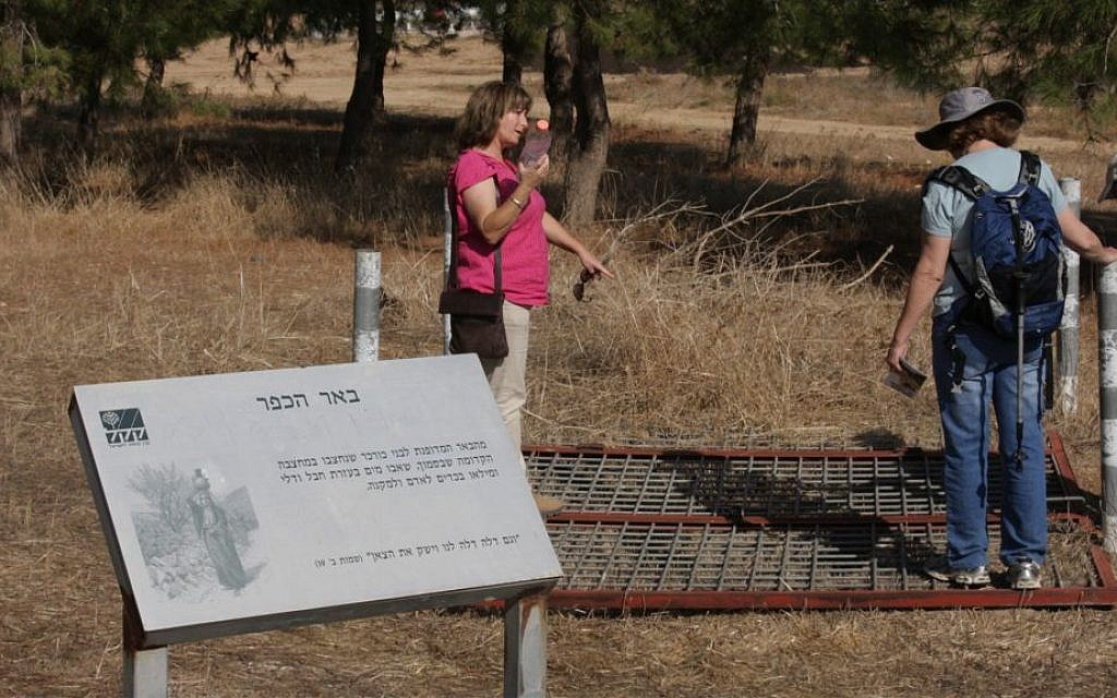 A traditional brick-lined well in the forest, roughly 40 meters (130 feet) deep. (Shmuel Bar-Am)