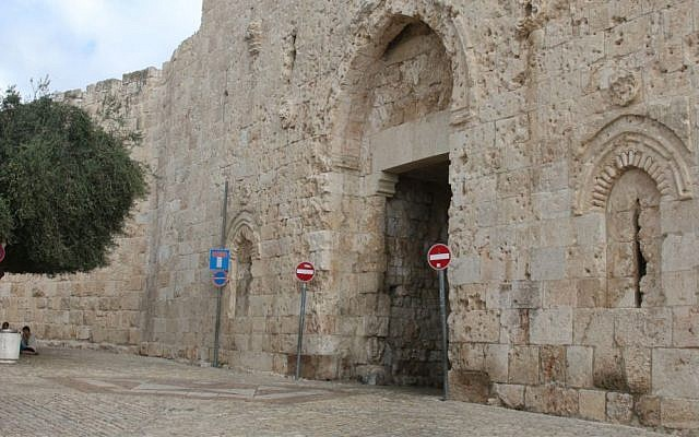 Zion Gate, one of eight passages through the Old City's walls, and the scene of fighting in the 1948 Israeli War of Independence. (Shmuel Bar-Am)