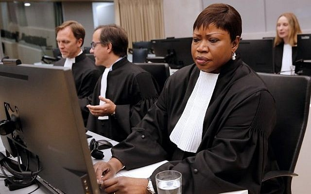 Chief Prosecutor Fatou Bensouda sits in the International Criminal Court in The Hague, September 27, 2016. (AFP/ANP/Bas Czerwinski)