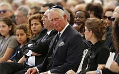 Britain's Prince Charles attends the funeral of former Israeli president and prime minister Shimon Peres at the Mount Herzl national cemetery in Jerusalem on September 30, 2016. (AFP Photo/Pool/Abir Sultan)