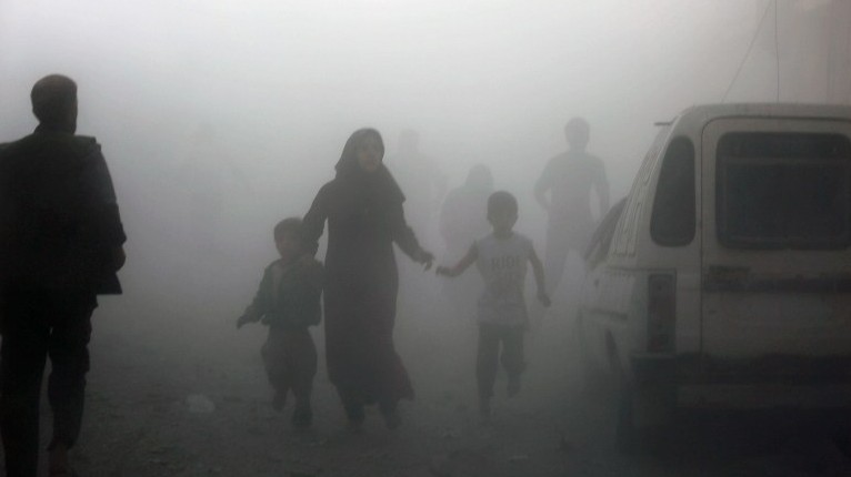 Syria and Russian Federation  continue to bombard Idlib province