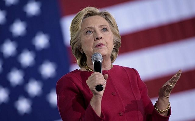 Democratic presidential nominee Hillary Clinton speaks during a town hall meeting October 4, 2016 in Haverford, Pennsylvania. (AFP Photo/Brendan Smialowski)