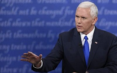 Republican candidate for Vice President Mike Pence speaks during the vice presidential debate at Longwood University in Farmville, Virginia on October 4, 2016. (AFP / SAUL LOEB)
