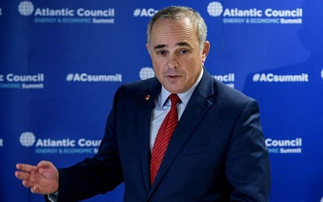 Energy Minister Yuval Steinitz responds to questions during a press conference at the 23rd World Energy Congress in Istanbul, October 13, 2016. (AFP/OZAN KOSE)