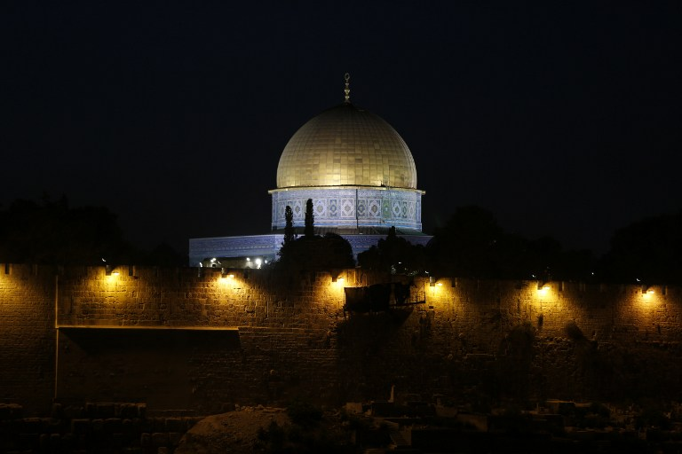A general view taken on October 13, 2016, shows the Dome of Rock on the Temple Mount in Jerusalem. (AFP PHOTO / AHMAD GHARABLI)