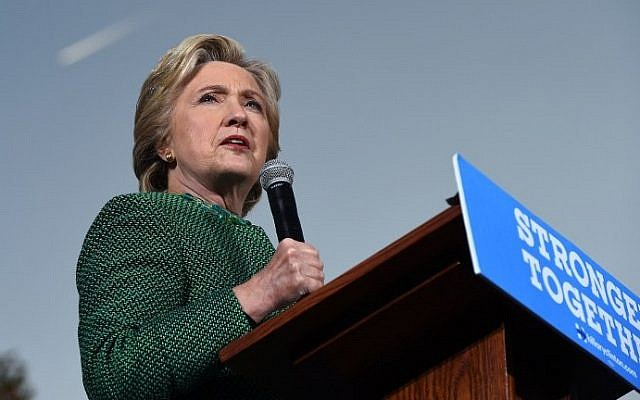 Democratic presidential nominee Hillary Clinton addresses a rally at the University of North Carolina at Charlotte, October 23, 2016, in Charlotte, North Carolina. (AFP PHOTO / Robyn BECK)
