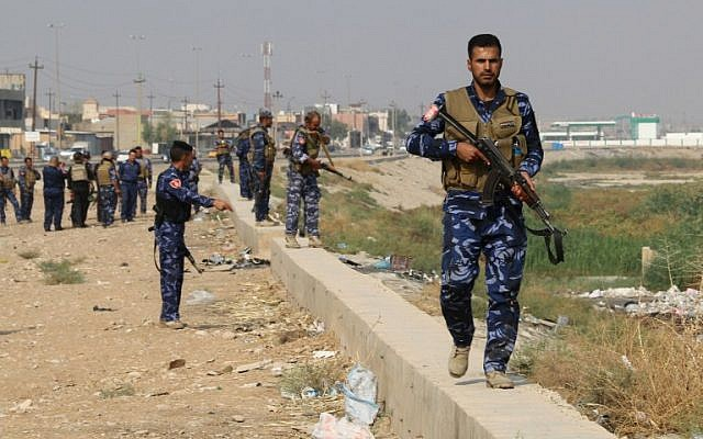 Illustrative image of Iraqi government forces patrolling the area of Kirkuk for members of the Islamic State (IS) group on October 25, 2016. (AFP PHOTO / Marwan IBRAHIM)