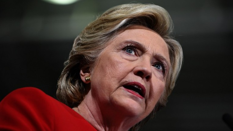 US Democratic presidential nominee Hillary Clinton speaks during a campaign rally at the Kent State University in Kent, Ohio, October 31, 2016. (AFP/Jewel SAMAD)