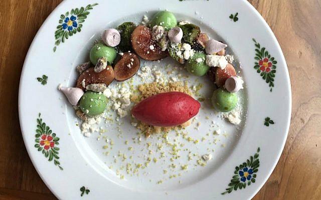 Alex Levin's 'Pistacchi e Fichi' dessert (Courtesy)