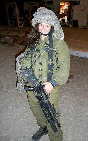 Mimi Berman during her regular IDF service (Courtesy)