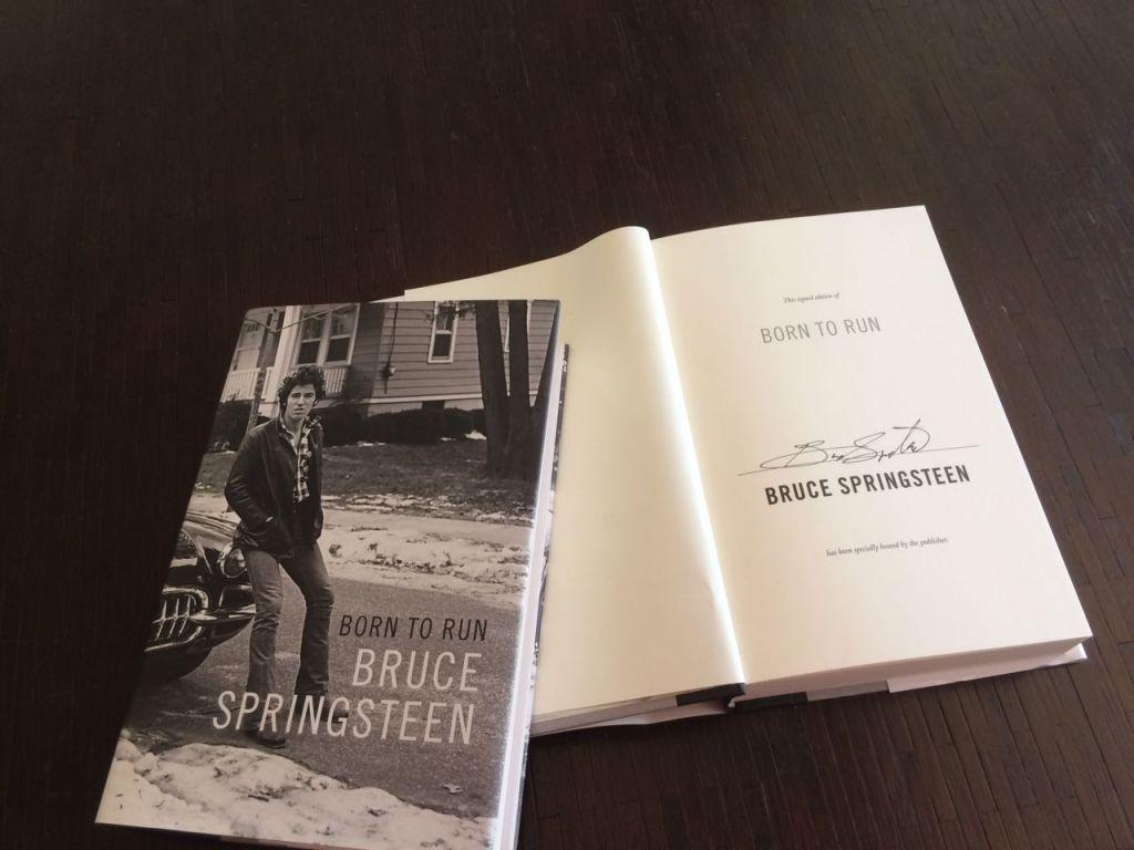 Springsteen's signed autobiography (Courtesy Amy Kalman)