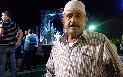 Sarsour Mustafa, a 72-year-old resident of Kafr Kassem (Dov Lieber/Times of Israel)
