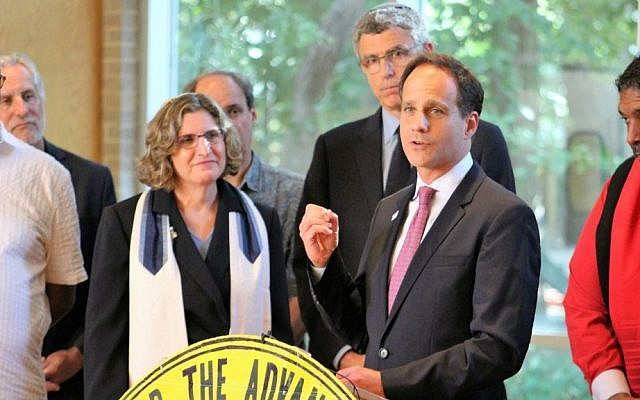Rabbi Jonah Pesner speaking at the NAACP North Carolina chapter. (Courtesy Religious Action Center of Reform Judaism)