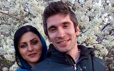 Golrokh Ebrahimi Iraee and husband Arash Sadeghi (Facebook photo)