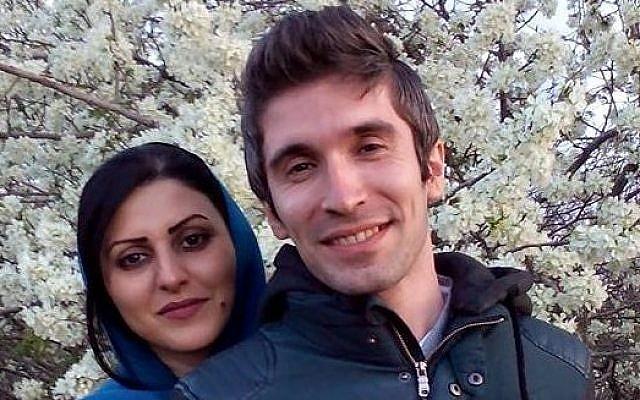 Golrokh Ebrahimi Iraee and husband Arash Sadeghi (Facebook photo)