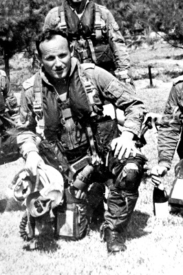 Fighter pilot Ehud Shelach, husband of Tami Shelach, chairperson of the IDF Widows and Orphans Organization, who was killed during the Yom Kippur War, in an undated photograph. (Israeli Air Force)
