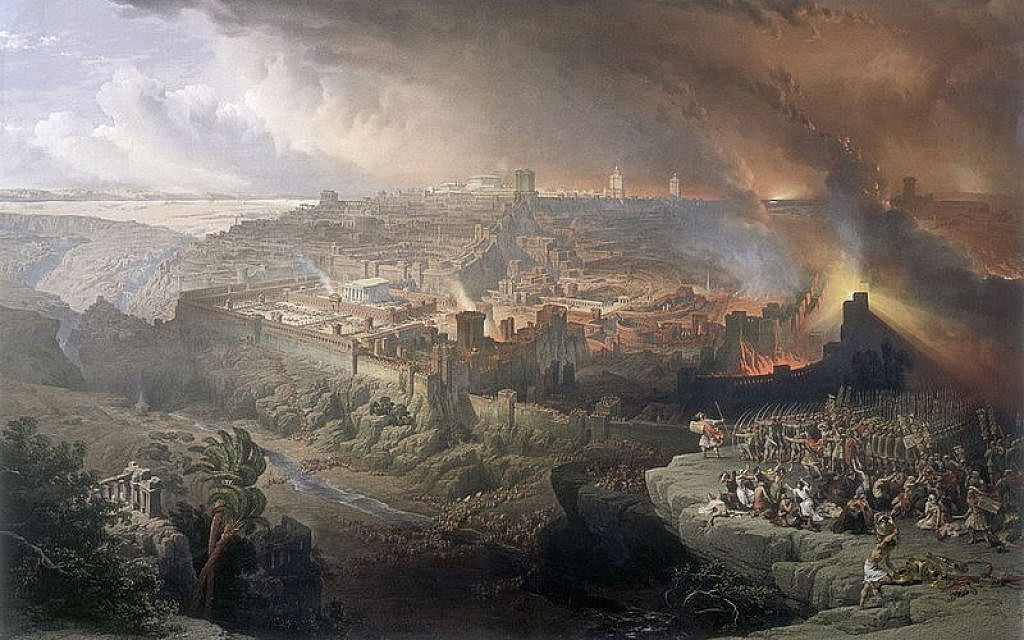 The Siege and Destruction of Jerusalem, by David Roberts, 1850. (Wikipedia/ Creative Commons)