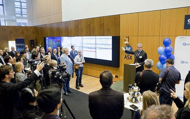 Listing ceremony at Australian Securities Exchange (Courtesy ASX)