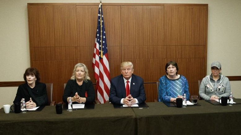 Trump Appears With Bill Clinton Accusers Ahead Of Debate The Times