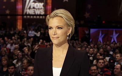 Moderator Megyn Kelly waits for the start of the Republican presidential primary debate in Des Moines, Iowa, January 28, 2016. (AP/Chris Carlson)