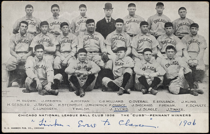 The Cubs in 1906, the beginning of their baseball heyday. (Flickr/user BPL)