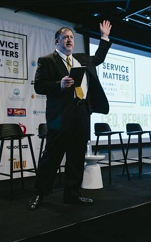 David Eisner, CEO of Repair the World, addresses a session at the summit. (Stefano Giovanini)