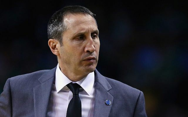 David Blatt of the Cleveland Cavaliers looks on during the first quarter against the Boston Celtics at TD Garden on December 15, 2015 in Boston, Massachusetts. (Photo by Maddie Meyer/Getty Images via JTA)