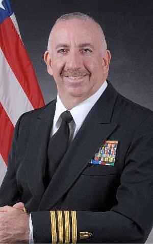 Captain Rabbi Irving Elson in his Navy uniform. (Courtesy)