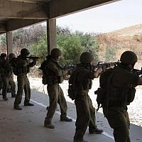 Illustrative. IDF reserve soldiers training at Adam military facility. (Photo by Roy Sharon/Flash90)